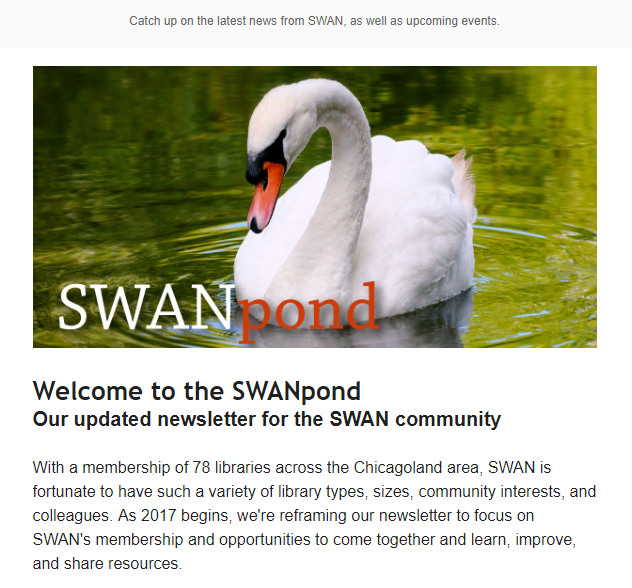 SWANpond email example